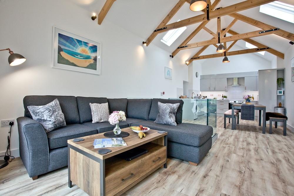 The Hayloft Dog Friendly Kitchen & Living Space
